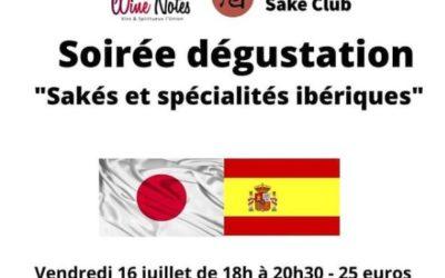 Soirée dégustation «sakés et spécialités ibériques»